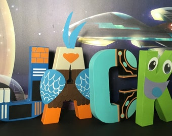Miles from Tomorrowland Paper Mache Letters - 4 LETTER NAME
