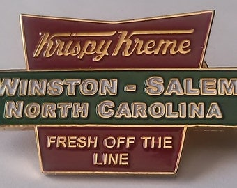 Rare Vintage Gold or Silver Plated Krispy Kreme Lapel Pin from the 1990's