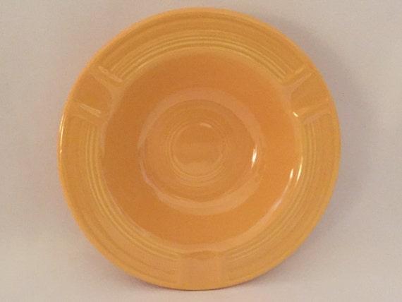"FREE SHIPPING-Fabulous-Vintage-1940's-Bright Yellow-5 1/2""-Genuine-Fiestaware-Homer Laughlin-Made USA-Ashtray"