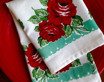 Mod-Vintage Cloth Napkin Set of Four