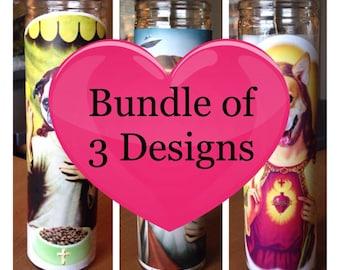 Bundle of 3 Holy Prayer Candles [Free Shipping!]
