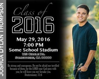 Simple Graduation Announcement/Invitation with Picture