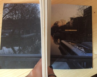 Sunrise on Amsterdam Canal Blue Leather Journal | Long Stitch | Sketchbook | Journal | Notebook