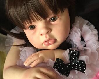 "Beautiful Reborn Toddler Arianna Big Baby Girl Hair 28"" Gift"