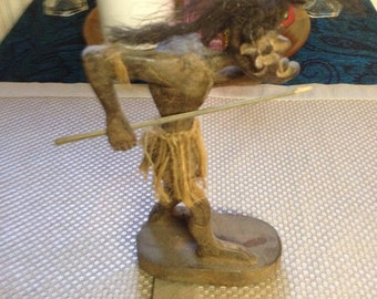 African Warrior Carving/Figurine