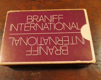 A complete set of Braniff International Airlines playing cards