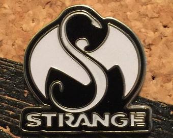 Black strange hat pin