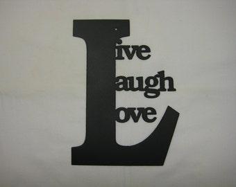 Live Laugh Love Metal Wall Word Decor