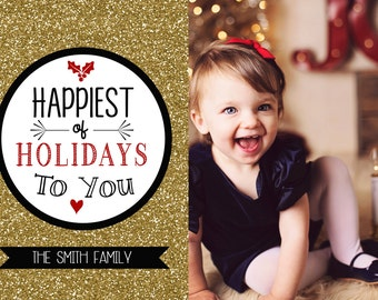 Printable Photo Christmas Card / Holiday Card / Holiday Christmas Card / Custom Holiday Card / Christmas Card / Happy Holidays Card