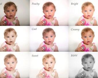 Lightroom presets, Baby portrait presets, Newborn presets, High key presets,