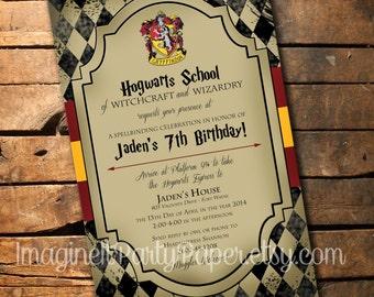 Harry potter birthday invitation etsy harry potter birthday invitation filmwisefo Gallery