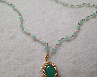 Chrysophrase Necklace