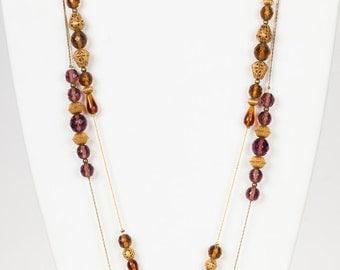 Diane von Furstenberg Purple and Orange Glass Flappers
