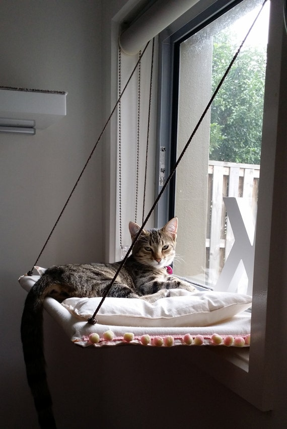 window cat hammock with cushion by jinstan on etsy. Black Bedroom Furniture Sets. Home Design Ideas