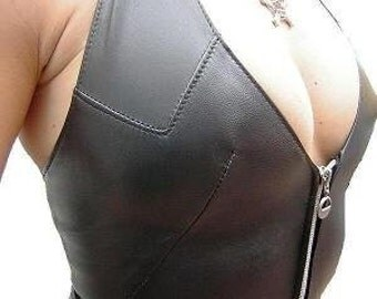 Women's clothing Top in thick and soft nappa leather
