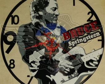 vinyl wall clock BRUCE SPRINGSTEEN