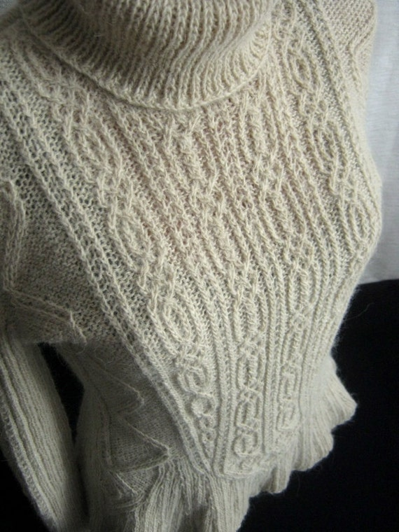 Free Knitting Patterns Alpaca Sweaters : Womens Sweater Alpaca Aran Knitting Warm Winter Pullover