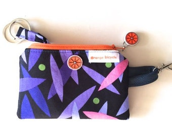 Cosmic Purple Key Case/Chain. Hand made by Orange bicycle designs.