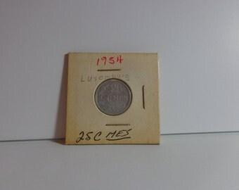 Letzeburg 1954 25 c mes Coin
