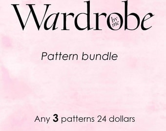 PDF Sewing pattern//Pattern bundle//Wardrobe by me// Buy 3 patterns for 24 dollars// bundle discount