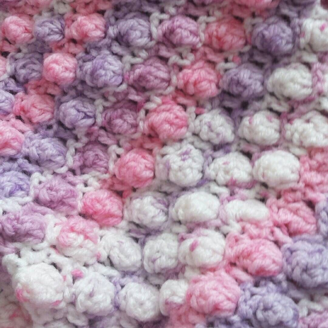 REDUCED TO SELL. Crochet baby blanket Gorgeous popcorn