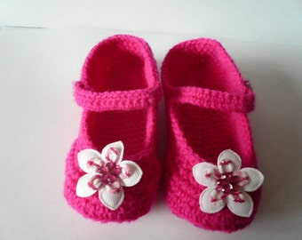 Crochet Babys Shoes, Baby Girl Gift, Christening/Blessing Baby Shoes, Made to order
