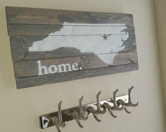 North Carolina Wood Sign Home