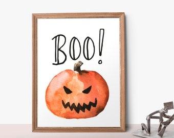 Halloween Printable decor, Boo printable, Pumpkin Printable, Halloween Decor, Halloween sign printable, Halloween party decor, Boo print