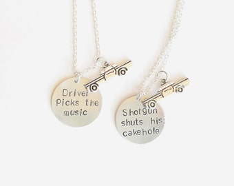 Supernatural Inspired Hand Stamped Friendship Necklaces
