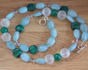 Funky mixed gem beaded necklace.