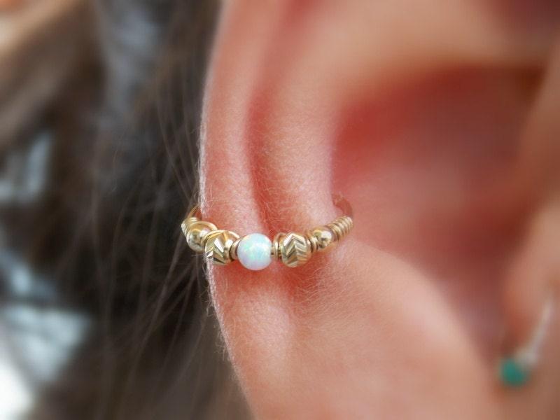 conch earring helix hoop earring conch earring opal. Black Bedroom Furniture Sets. Home Design Ideas