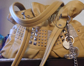 Purse Vintage Kathy Ireland with Bling and Metal Bindings