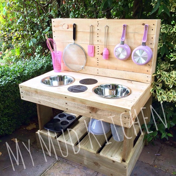 Items Similar To My Mud Kitchen Handmade Wooden Play