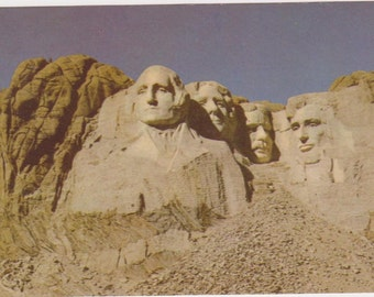 Vintage Postcard Mt. Rushmore Postcard Travel Historic Landmark Collectible Postcard