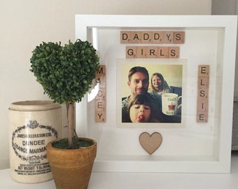 Scrabble personalised photo picture any occasion Father's Day FREE POSTAGE