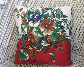 CUSHION SALE Vintage Floral Print Cushion Pillow Cover