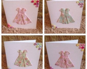 Handmade Origami Teadress Birthday Cards