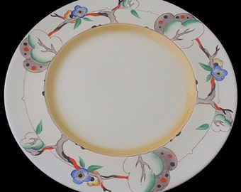 Large Clarice Cliff Tiger Tree Pattern Plate