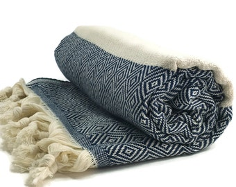 Hamam Towel Turkish Hammam 100 Cotton Peshtemal Yoga Pestemal Marine