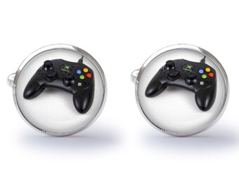Video Game Cufflinks - Game Controller Cufflinks - Gamer Cufflink - Game Console Cuff Links (Pair) Lifetime Guarantee (S0592)
