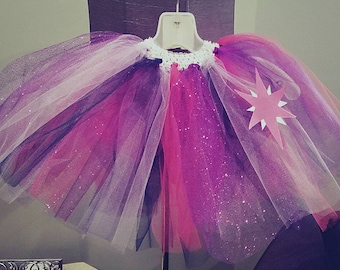 Halloween Tutu, costume tutu, toddler tutu, infant tutu, twilight sparkle tutu, my little pony tutu