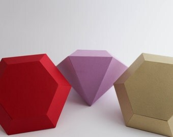 3D Paper 6 Sided Diamond Table Decoration