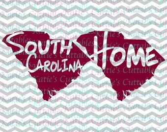 South Carolina Home Name Deign .SVG/.DXF/.EPS and .png Files for EveryVinyl Cutting Machine