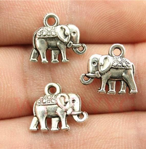 5 Pcs Elephant Charms Pandora Bracelet Charm Cute By