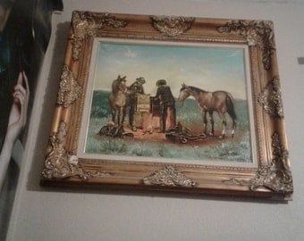 By the camp fire oil voltage western signed