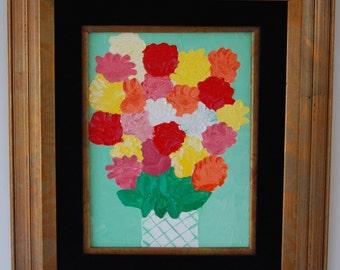 Green Vase1 Original Framed Oil Painting