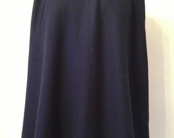 Vintage 1950s Navy Skirt * Robert Kirk * Wool *  Size 2