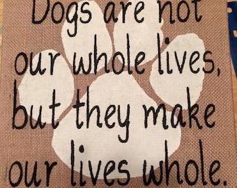 Dog Lovers Burlap canvas
