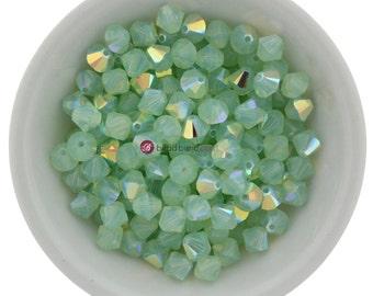Chrysolite Opal AB (3mm - 6mm) Swarovski Crystal 5328 XILION Bicones