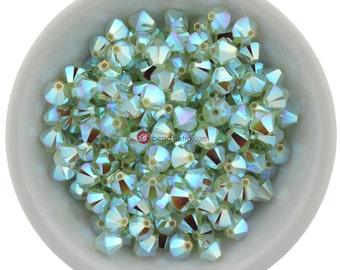 Chrysolite Opal AB2X (3mm - 6mm) Swarovski Crystal 5328 XILION Bicones